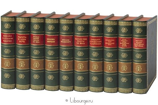 'Библиотека всемирной литературы (№8, 200 томов)' в кожаном переплете