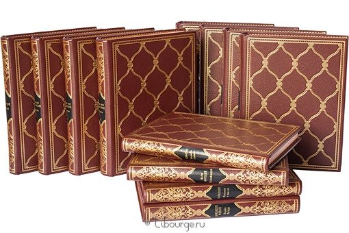 'Библиотека генерального директора. Вечная классика (12 томов)' в кожаном переплете
