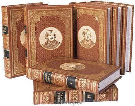 'Собрание сочинений Гоголя (7 томов)' в кожаном переплете