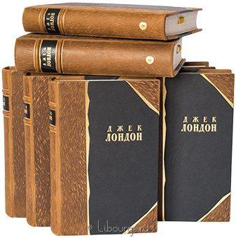 'Собрание сочинений Джека Лондона (8 томов)' в кожаном переплете