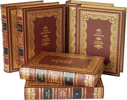 Ги де Мопассан, Собрание сочинений Мопассана (6 томов) в кожаном переплёте