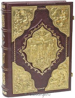 Библия. Священное писание Ветхого и Нового Завета в кожаном переплёте