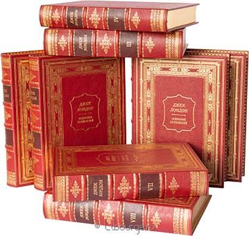 'Собрание сочинений Лондона (8 томов)' в кожаном переплете
