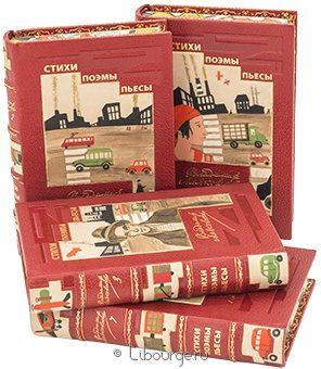 Антикварная книга 'Собрание сочинений В. Маяковского (4 тома)' в кожаном переплете