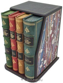 Антикварная книга 'Собрание сочинений А.А. Голенищева-Кутузова (4 тома)' в кожаном переплете
