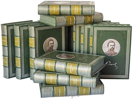 А.П. Чехов, Собрание сочинений Чехова (12 томов) в кожаном переплёте