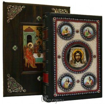 Святое Евангелие на церковнославянском языке (№10) в кожаном переплёте