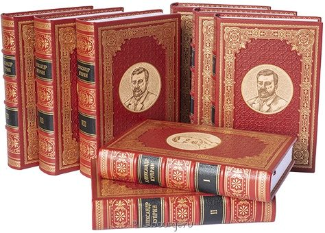 'Собрание сочинений Куприна (8 томов)' в кожаном переплете