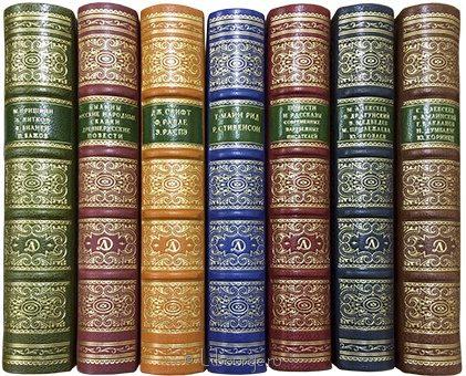 'Библиотека мировой литературы для детей (№2, 58 томов)' в кожаном переплете