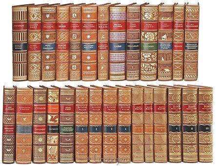 'Библиотека свободных искусств (37 томов)' в кожаном переплете
