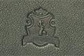 Экслибрис в виде фамильного герба, блинтовое тиснение за задней крышке