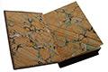 Форзац из бумаги, окрашенной вручную с эффектом 'мрамора'.