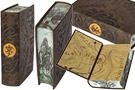 Оригинальный французский переплет книги 'Властелин Колец' с расписными обрезами и эмблемой Дж.Толкина на корешке.