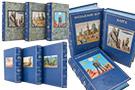 На каждой из книг на передней и задней крышках вставлен тематичный рисунок ручной росписи. В индивидуальных футлярах специальные вырезы для рисунков. Экслибрис владельца.